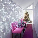 Ndier 3Mx3M Rideau Lumineux 300 LED 8 Modes Noël Déco - Guirlande Lumineuse Ambiance Mariage Soirée Anniversaire Fête Vitrine Fenêtre Cour Balcon Maison Boutique Hôtel Bar 220V (Blanc) de la marque image 2 produit