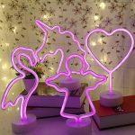 Neon Signs enseigne lumineuse LED avec support Base pour maison fête d'anniversaire Décoration de table de chevet Chambre à coucher, enfants cadeaux de la marque Yaeer image 2 produit