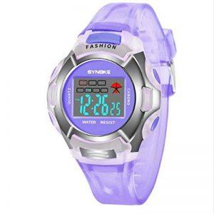 Neuf étanche enfants montre Filles numérique LED montres de sport Plastique enfants Alarme Date décontracté montre, Violet de la marque PENVEAT image 0 produit