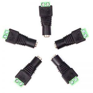 Neuftech® 5 pcs 2.1mm x 5.5mm femelle DC puissance Adaptateur creux prise connecteur à visser pour ruban à LED de la marque image 0 produit