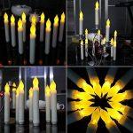 niceEshop(TM) Kit de 12 Pcs Bougie à LED sans Flamme, Longue Bougie de Chandelier, Bougie LED à Piles pour la Décoration de Noël, Anniversaire, Fête et Mariage (Blanc) de la marque niceEshop image 2 produit