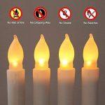 niceEshop(TM) Kit de 12 Pcs Bougie à LED sans Flamme, Longue Bougie de Chandelier, Bougie LED à Piles pour la Décoration de Noël, Anniversaire, Fête et Mariage (Blanc) de la marque niceEshop image 3 produit