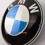 Nouveau Plaque Émaillée BMW 12cm rond Classic Publicité enseigne publicitaire ANNÉES 50Life Style Rétro Fifties de la marque US-Way e.K. image 1 produit