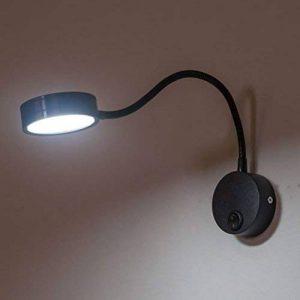 NUOLUX Câblage 3W Flexible col de cygne Led Wall Light lampe d'éclairage pour salle de bain chambre lecture avec lumière blanche (noir) de la marque NUOLUX image 0 produit