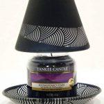Officiel Yankee Candle Noir dépolie élégant Verre Petite Lampe Abat-Jour et Plateau Set de décoration–Bougie Non Incluse de la marque My Planet Yankee Candle image 1 produit