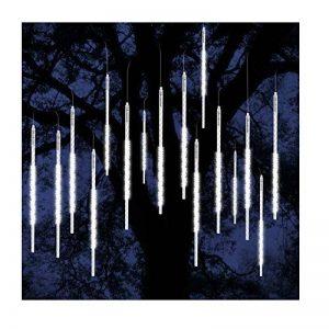 ohCome [Nouvelle Version] Meteor Shower Rain Drop Lights 50cm 10 Tubes Spirales 540 LEDs Imperméables Icicle Snowfall String Lights pour Noël Christmas Christmas Halloween Garden Tree Home Decor (Blanc) de la marque ohCome image 0 produit