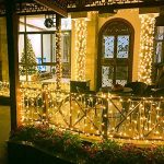 OMOTON 20M 200 LED Guirlande Lumineuse Cuivre Solaire Etanche -Lumière Décorative Intérieure avec Ambiance Blanc Chaud pour la Fête, Noël, Mariages, Jardin, Terrasse, Pelouse Maison de la marque OMOTON image 1 produit