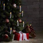 oneConcept Eternal Flame - Lot de 10 bougies LED pour décoration sapin de Noel, intensité lumineuse réglable et imitation vacillement flamme (télécommande, timer pour extinction automatique, fonctionnement indépendant à piles) de la marque OneConcept image 1 produit