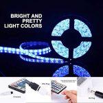ONELD Ruban LED Multicolore 5M 5050 RGB - Ruban à LED (5m) 5050 RGB SMD Multicoulore 150 LEDs 60W, Bande LED Lumineuse avec Télécommande à Infrarouge 44 Touches et Alimentation 2A 12V de la marque ONELD image 3 produit