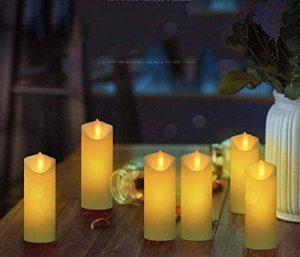 Onfly Bougie Électronique Led, Bougie Sans Flammes Simulée Candlelight PP, Ensemble de 6 Pièces, Mariage Romantique Chaleur/Dîner aux chandelles/Fête Déco Lumière Ambiante Bougie de la marque Onfly image 0 produit