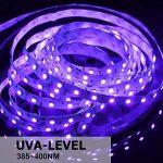 Onforu Kit de 5M UV Bande LED Lumière Noire, 300 LEDs Ruban Lumineux Violet, Bandeau LED Autocollant, Avec Fiche 12V, LED SMD2835 de haute qualité, Bande LED Lumineuse Flexible, Eclairage de Scène, Eclairage d'ambiance Parfait pour soirée bar Disco DJ de image 1 produit
