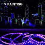 Onforu Kit de 5M UV Bande LED Lumière Noire, 300 LEDs Ruban Lumineux Violet, Bandeau LED Autocollant, Avec Fiche 12V, LED SMD2835 de haute qualité, Bande LED Lumineuse Flexible, Eclairage de Scène, Eclairage d'ambiance Parfait pour soirée bar Disco DJ de image 2 produit