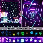 Onforu Kit de 5M UV Bande LED Lumière Noire, 300 LEDs Ruban Lumineux Violet, Bandeau LED Autocollant, Avec Fiche 12V, LED SMD2835 de haute qualité, Bande LED Lumineuse Flexible, Eclairage de Scène, Eclairage d'ambiance Parfait pour soirée bar Disco DJ de image 3 produit