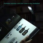 Opard Liseuse-4 Luminosité Réglable de Conception - Lampe Avec Pince Petite Lampe Livre Lampe de Lecture Flexible Livre Lire LED Lampe de Lecture pour Kindle Batterie de la Lampe Rechargeable via USB - 150 mAh batterie(Noir) de la marque Opard image 4 produit