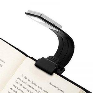 Opard Liseuse-4 Luminosité Réglable de Conception - Lampe Avec Pince Petite Lampe Livre Lampe de Lecture Flexible Livre Lire LED Lampe de Lecture pour Kindle Batterie de la Lampe Rechargeable via USB - 150 mAh batterie(Noir) de la marque Opard image 0 produit
