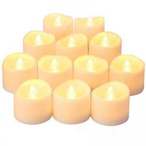 Oria Bougies à LED, Lot de 12 Bougies sans Flamme, Lumières de Fête, Bougie Electronique Réaliste de Alimenté par Batterie pour la Décoration, les Festivals, les Mariages Proposent - Blanc Chaud de la marque Oria image 0 produit