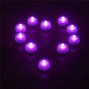 Oshide Submersible Léger étanche LED Bougie Lampe Pack de 12, Lumière de Thé, Mariage ou Autre Soirée (Rose) de la marque Oshide image 0 produit