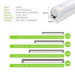 OUBO Tube LED T8 Lampe Lumière Fluorescente 150cm avec Douille 24.00 W Blanc Naturel 4000k Couverture transparente pour Parking, garages, bureaux, couloirs ou ateliers etc. de la marque OUBO image 4 produit
