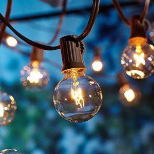OXYLED Guirlandes Lumineuses,Lumières de Ficelle extérieures, [Version améliorée] G40 25ft Globe Patio Jardin extérieur lumières de Guirlande, décoratif ficelles de lumières de la marque OXYLED image 0 produit