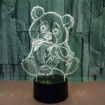 Panda Géant LED 3D Lampe Optique Illusion, Veilleuse Enfant Lampe De Nuit, 7 Color Changing Desk USB Nouveauté LED Lampe De Table Surprise Deco Ambiance Créatif Avec Câble USB de la marque YUN Night Light@ image 1 produit