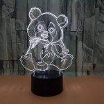 Panda Géant LED 3D Lampe Optique Illusion, Veilleuse Enfant Lampe De Nuit, 7 Color Changing Desk USB Nouveauté LED Lampe De Table Surprise Deco Ambiance Créatif Avec Câble USB de la marque YUN Night Light@ image 2 produit