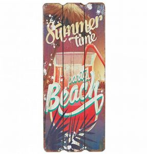 Panneau en bois Beach Bar Tropical Bar Plaque murale MDF Décoration Murale Enseigne Décoration de vacances de plage Welcome Plaque de porte Cocktail Beer Cave 34 x 15 cm, Bois, Summer Time, 34cm hoch, 15cm breit und 1cm tief de la marque Woodpassion image 0 produit
