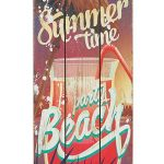 Panneau en bois Beach Bar Tropical Bar Plaque murale MDF Décoration Murale Enseigne Décoration de vacances de plage Welcome Plaque de porte Cocktail Beer Cave 34 x 15 cm, Bois, Summer Time, 34cm hoch, 15cm breit und 1cm tief de la marque Woodpassion image 1 produit