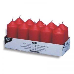 PAPSTAR Bougies cylindriques, 40 mm, rouge, en pack de 10 de la marque Papstar image 0 produit