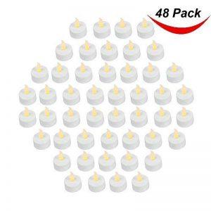 Paquet de 48 réaliste et clair à piles Vacillant sans flammes bougie chauffe-plat del Bougie, 3.5cmx4.2cm haut, électrique fausse bougie avec Batteries inclus - Jaune - Bargain outlet de la marque image 0 produit
