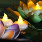 Pawaca Lot de 12 Lumières Bougies à LED, Sans Flamme, Bougies Flottantes Imperméables pour Votive, Table Party, Anniversaire, Mariage, Noël de la marque Pawaca image 1 produit
