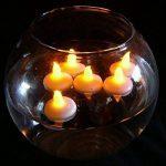 Pawaca Lot de 12 Lumières Bougies à LED, Sans Flamme, Bougies Flottantes Imperméables pour Votive, Table Party, Anniversaire, Mariage, Noël de la marque Pawaca image 3 produit