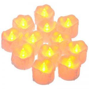 PChero Bougies LED avec minuterie, Lot de 12 bougies LED Piles, 6 heures on et 18 heures Off jaune de la marque PChero image 0 produit