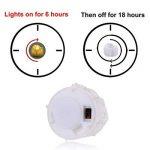 PChero Bougies LED avec minuterie, Lot de 12 bougies LED Piles, 6 heures on et 18 heures Off jaune de la marque PChero image 1 produit