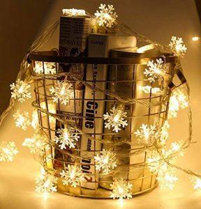 PEIQI LIGHT Guirlande Lumineuse Batterie Alimenté 10M 80 LED Lumières Flocon De Neige Lumières De Noël Fil De Cuivre pour DIY Dîner De Mariage Partie Chambre Décor De Noël de la marque PEIQI LIGHT image 0 produit