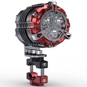 Phares À LED Moto, Feux De Moto En Acier Inoxydable, Accessoires Modifiés Universels, Phares Extérieurs, Feux Auxiliaires, Lumières Super Lumineuses de la marque BQT image 0 produit