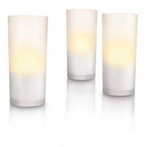 Philips Imageo CandleLights 12 Bougies LED Photophores Blanc Luminaire d'ambiance design Base de recharge (grise ou blanche) de la marque Philips Lighting image 0 produit