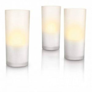 Philips Imageo CandleLights 3 Bougies LED Photophores Blanc Luminaire d'ambiance design Base de recharge (grise ou blanche) de la marque Philips Lighting image 0 produit