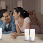 Philips Imageo CandleLights 3 Bougies LED Photophores Blanc Luminaire d'ambiance design Base de recharge (grise ou blanche) de la marque Philips Lighting image 2 produit