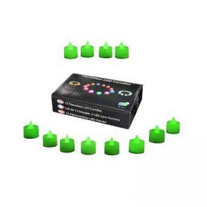 PK Green lot de 12 bougies à piles, sans flammes, à led vert - décoration d'intérieur de la marque PK Green image 0 produit
