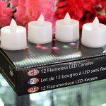PK Green lot de 12 bougies à piles, sans flammes, à led vert - décoration d'intérieur de la marque PK Green image 4 produit