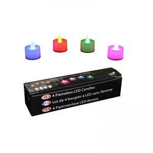 PK Green lot de 4 bougies à piles, sans flammes, à led qui change de couleur de la marque PK Green image 0 produit