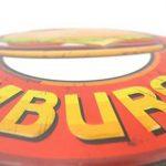 Plaque de Hamburger Tôle estampé 3D enseigne Cuisine Cuisson de cuisson Cuisine Pub Restaurant collation Snack Rétro de la marque image 1 produit