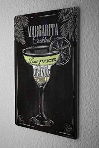 Plaque émaillée alcool Retro Margarita cocktail Bar Pub Restaurant de la marque Leotie GmbH image 0 produit