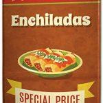 Plaque émaillée XXL Nostalgique Fun Enchiladas snack de la marque Leotie GmbH image 2 produit