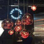 Pointhx Simplicité nordique Transparent coloré verre pendentif lumière Lave Lustre Postmodern E27 1-lumière Restaurant LED Pendentif Suspension Lampe Galeries Salle d'exposition Café Commercial Plafond éclairage ( Color : Red-S ) de la marque Pointhx image 2 produit