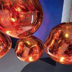 Pointhx Simplicité nordique Transparent coloré verre pendentif lumière Lave Lustre Postmodern E27 1-lumière Restaurant LED Pendentif Suspension Lampe Galeries Salle d'exposition Café Commercial Plafond éclairage ( Color : Red-S ) de la marque Pointhx image 4 produit
