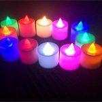 Pratique 12 Pcs LED Bougies légères Tealight Tea Lights avec des piles libres (changement de couleur) Home Accesserios de la marque HFjingjing image 1 produit
