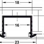 Profil en aluminium d'Loox Profil 2500mm profil LED encastrable Barre pour ruban LED   Auminium Argent anodisé   Diffuseur laiteux Transparent   gedotec® Powered by HÄFELE, Aluminium silber eloxiert, 1 Stück - Streuscheibe milchig de la marque Gedotec image 1 produit