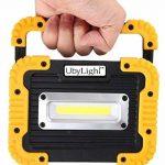 Projecteur LED Rechargeable ULTRA COMPACTE 10W | 800Lm | 7 Heures d' Autonomie | Étanche | Batterie Secours 4400mAh | Pour Chantier Garage Bricolage Travaux Activités Extérieures de la marque UbyLight image 3 produit