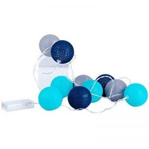 Promobo - Guirlande Boule Lumineuse 10 LED Déco Scandinave 1,5m Diamètre 6cm Bleu de la marque Promobo image 0 produit